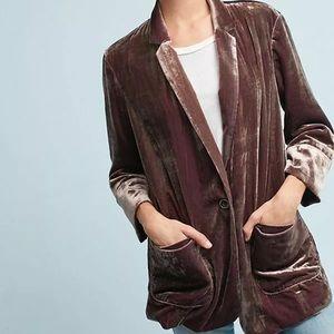 Cartonnier Anthropologie velvet blazer